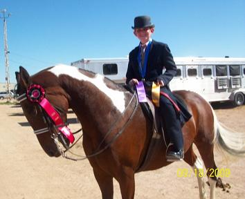 Natalie with Melody Champion National Show Horse