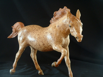 Red Roan Dappled Breyer Running Stallion