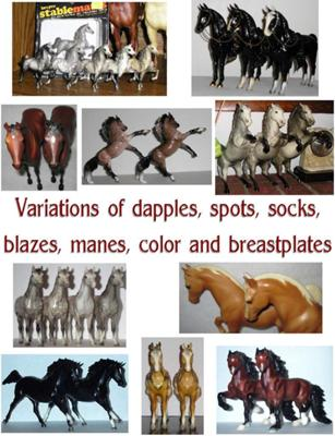 A few different varieties of markings