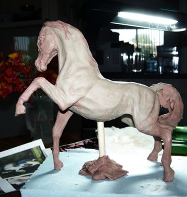 Custom model horse sculpture by Sheila Uva