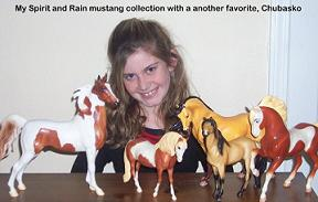 Natalie and her Breyer Collection