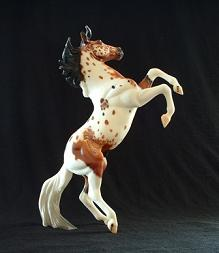 Custom Bay Tobiano Silver Breyer Horse
