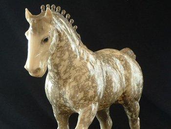 Vintage Dappled Clydesdale Breyer Horse