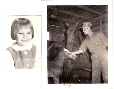 Annie the tomboy, Grandaddy and my new foal!