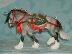 Wintersong Breyer Christmas Horse with Harness