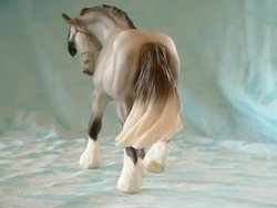 Wintersong Breyer Christmas Horse, Rear View